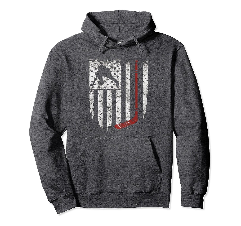 Hockey American USA Flag Hoodie Mens Tee Hoodie