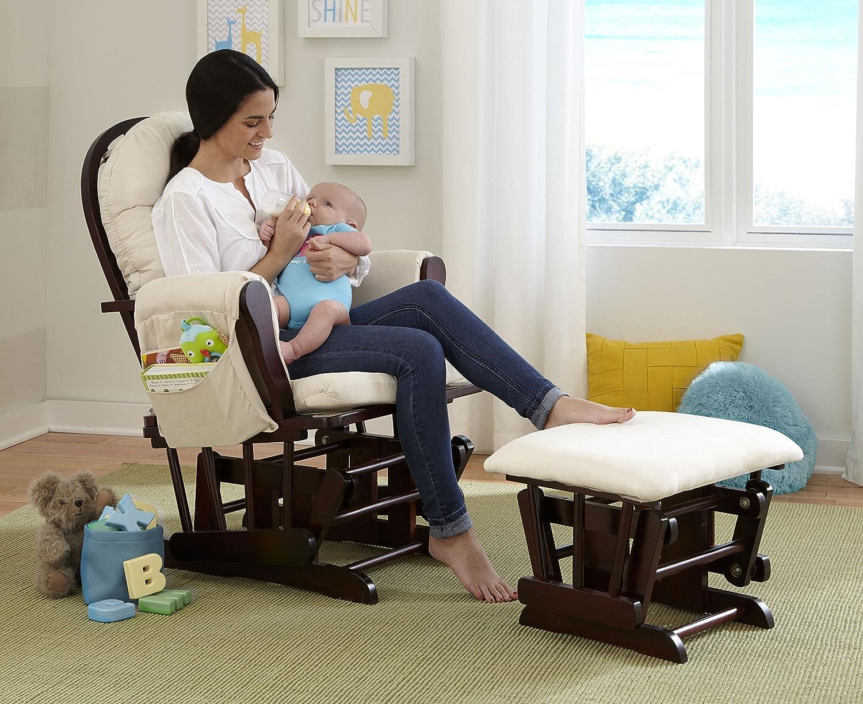 Amazon.com: Stork Craft Hoop Glider And Ottoman Set, Espresso/Beige: Baby