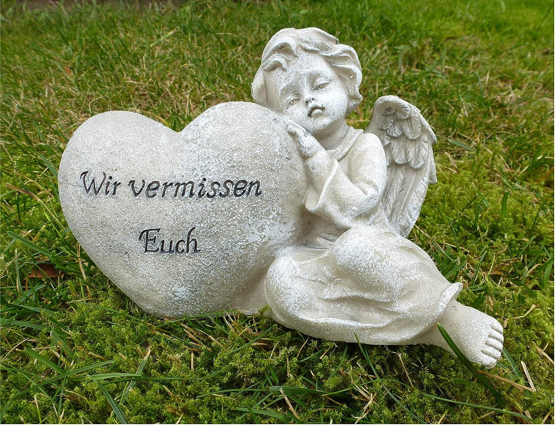 Decoline Grabschmuck Engel und Herz mit Inschrift 10cm