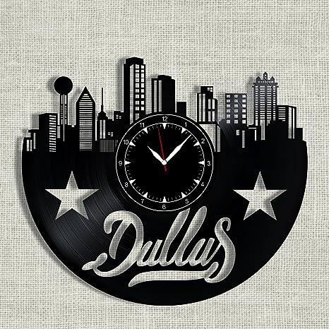 Amazon Com Soficlock Dallas City Vinyl Record Clock 12