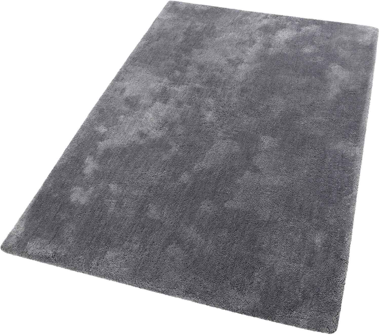 ESPRIT Relaxx Moderner Markenteppich, Polyester, Frost Grau, 190 x 130 x 2.5 cm