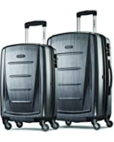 "Samsonite Winfield 2 Fashion Two-Piece Spinner Set (20""/24""), Charcoal"