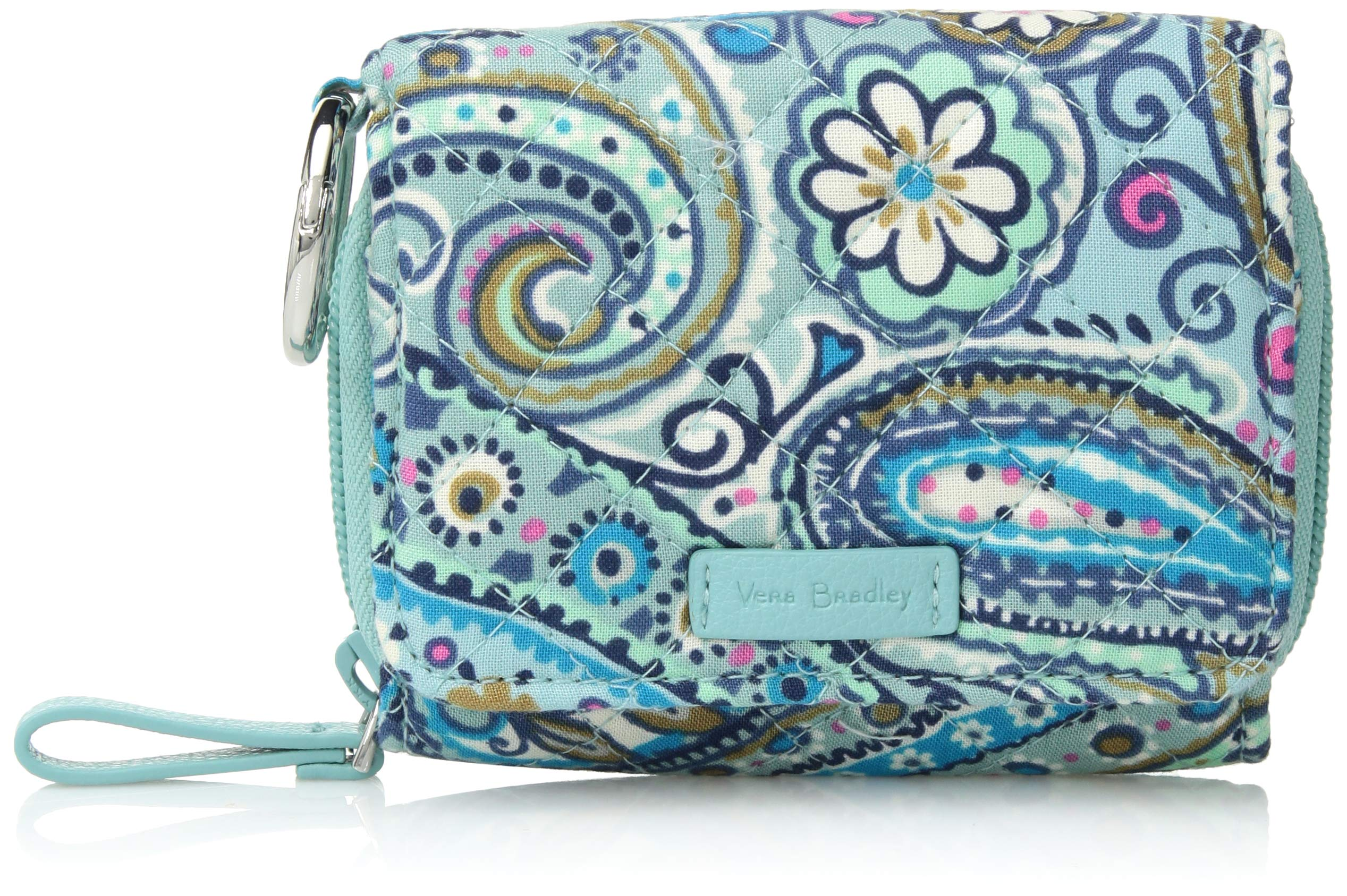 Vera Bradley Iconic RFID Card Case, Signature Cotton, Daisy Dot Paisley