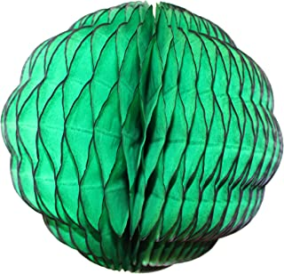 product image for 3-Pack 8 Inch Honeycomb Scalloped Tissue Ball Party Decoration (Dark Green)