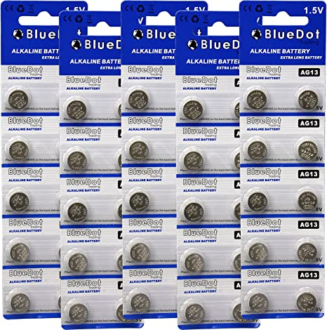 BlueDot Trading AG13 LR44 Button Cell Battery 10 Count