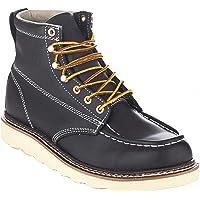 "EVER BOOTS ""Weldor Men's Moc Toe Construction Work Boots Wedge Soft Toe Light Weight"