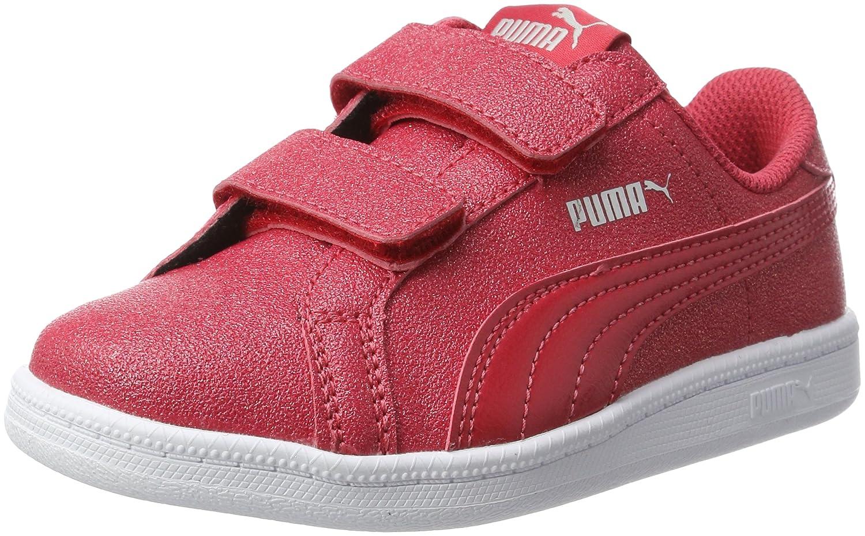 Puma Smash Glitzsl V PS, Zapatillas Unisex Niños 30 EU|Rojo (Toreador-toreador)
