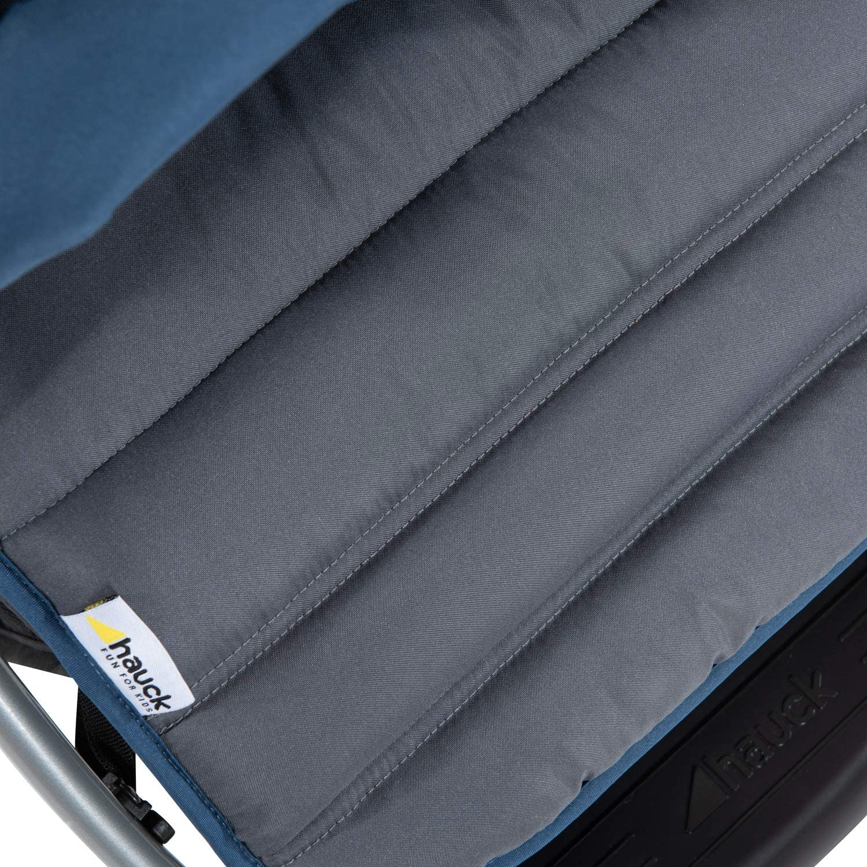 Pliable Poign/ée R/églable en Hauteur Grand Panier Hauck Rapid 4 Poussette jusqu/à 25 kg avec Position Couch/ée de 0 Mois Compacte Bleu Gris