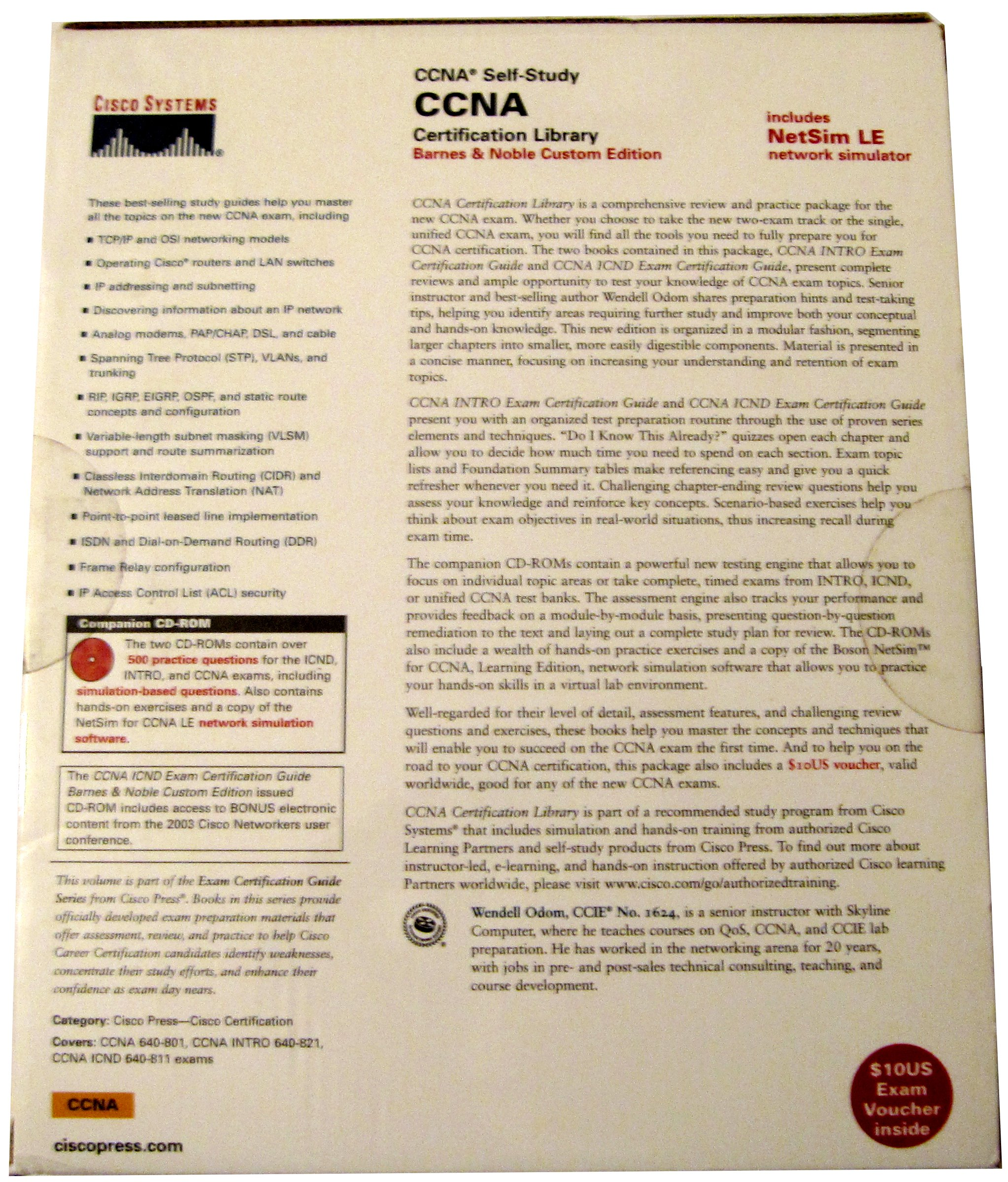 Ccna certification library ccna self study the official self ccna certification library ccna self study the official self study test preparation package for the cisco ccna 640 801 icnd 640 811 and intro 640 821 1betcityfo Gallery