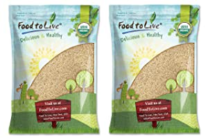 Organic Unhulled Sesame Seeds, 16 Pounds — Natural, Whole, White, Non-GMO, Raw, Kosher, Bulk, Rich in Calcium, Iron, and Fiber, Great for Baking