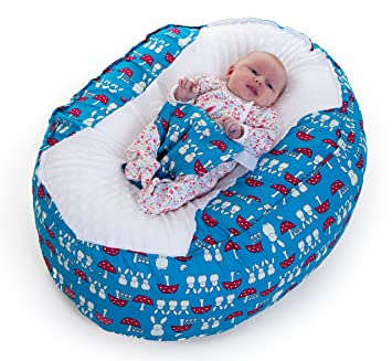 Baby Bean Bag Chair Blue Bunnies Amazoncouk Baby