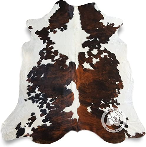 Tricolor Cowhide Rug Approx 6ft x 8ft 180 cm x 240cm