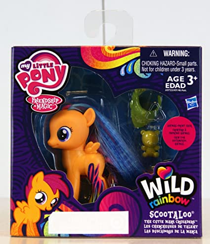 Amazon Com My Little Pony Friendship Is Magic Exclusive Wild Rainbow Figure Scootaloo Toys Games That page is for scootaloo's fans. my little pony friendship is magic exclusive wild rainbow figure scootaloo