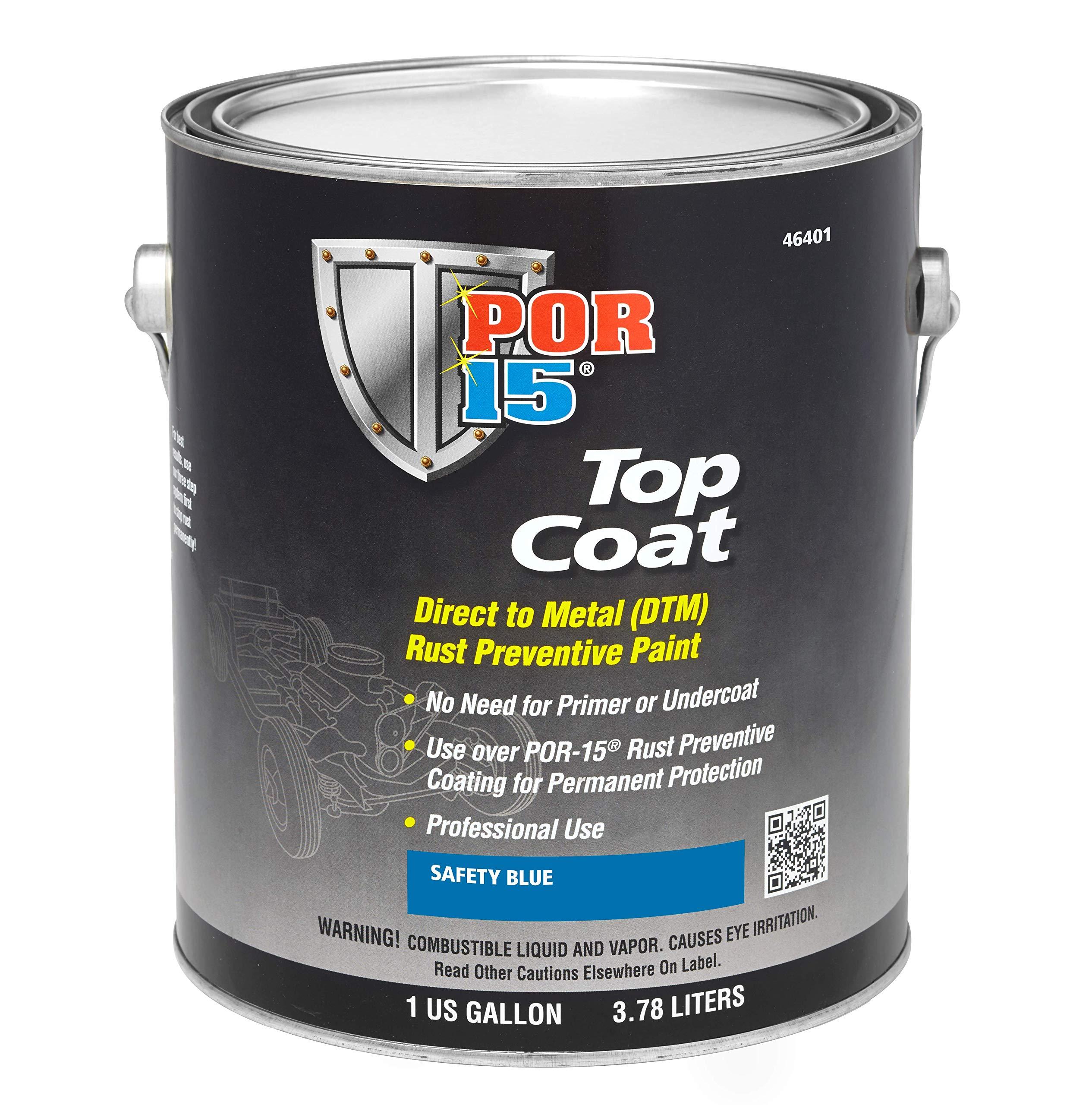 POR-15 46401 Top Coat Safety Blue Paint 128. Fluid_Ounces