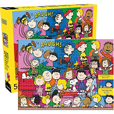 Aquarius Peanuts Cast 500pc Puzzle, Multi-Colored: Toys & Games