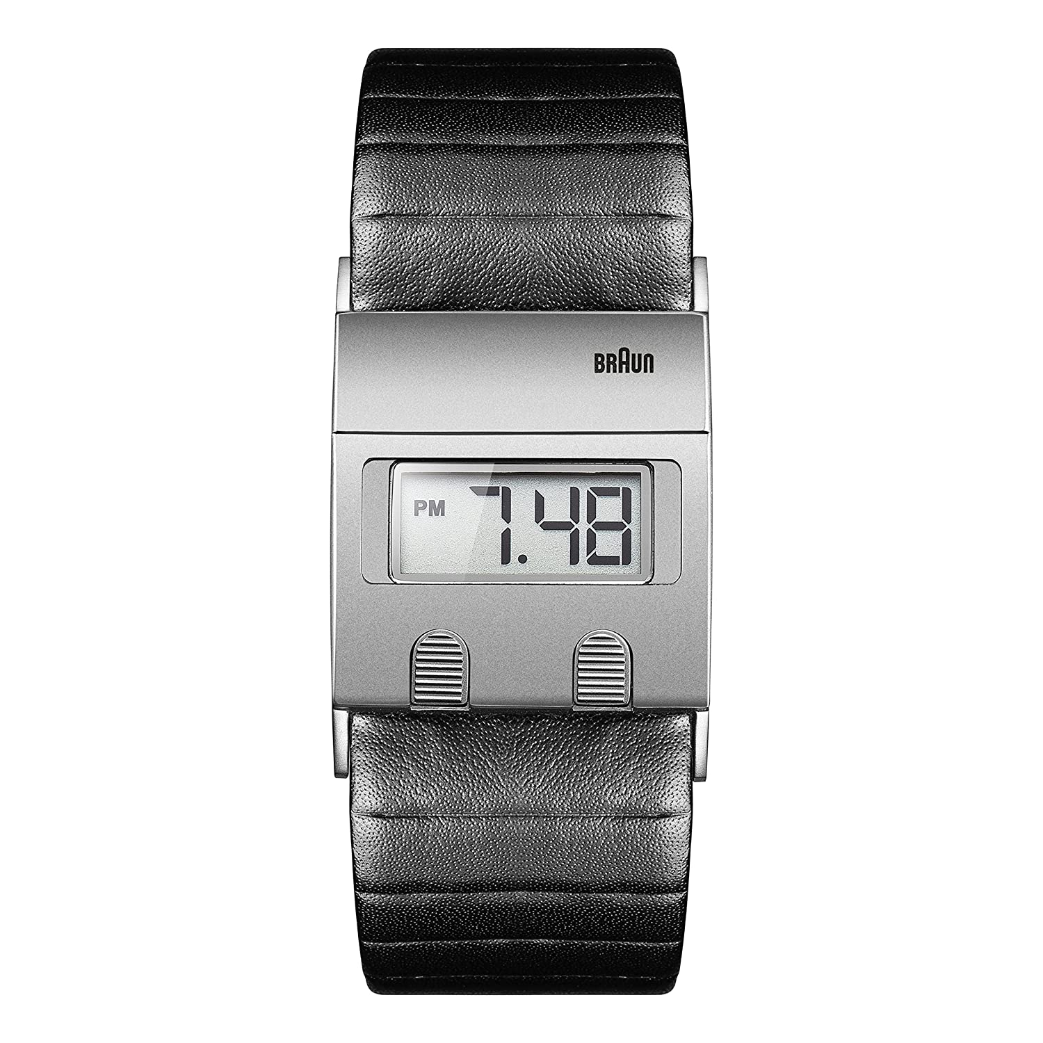 Braun Digital Range - Reloj digital para hombre, color negro/gris