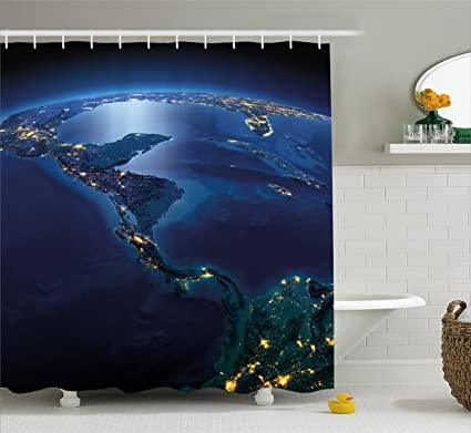 amazon com ambesonne world shower curtain countries of central rh amazon com