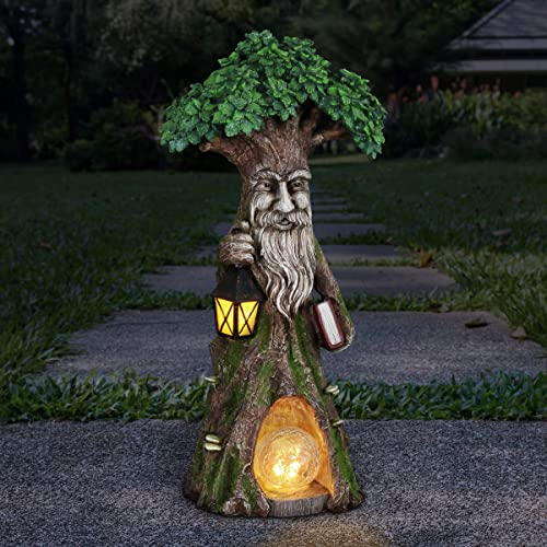 Exhart Solar Fairy Tree Carrying Book w/Firefly LED Crackle Ball