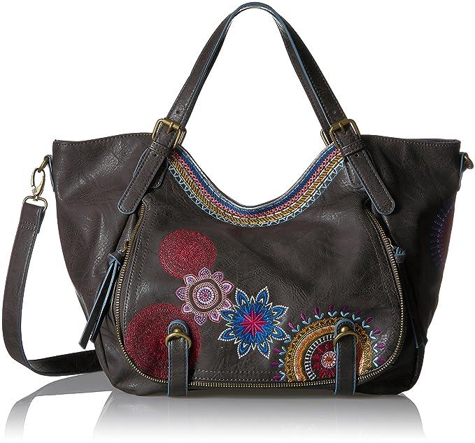 Desigual BOLS_ROTTERDAM AMBER Bolso de mano mujeres Negro/Multicolor Bolso para llevar al hombro