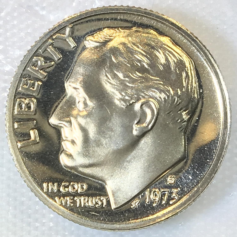 1973 S Roosevelt Dime Gem Proof