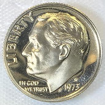 1973 S  Roosevelt  Proof Dime