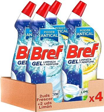 Bref Gel Limpiador WC Baño - Pack de 4 Unidades: Amazon.es: Salud ...