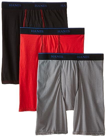 Amazon.com  Hanes Big Boys  3-Pack X-Temp Long Leg Boxer Brief  Clothing 495fc84b2c