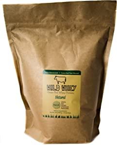 Grass-Fed Whey Protein, Cold Processed, Low Carb, Non-Denatured, Biologically Active, GMO-Free Protein Concentrate Made Directly from Grass-Fed Milk (Natural/Unflavored - Bulk 5 Pound)