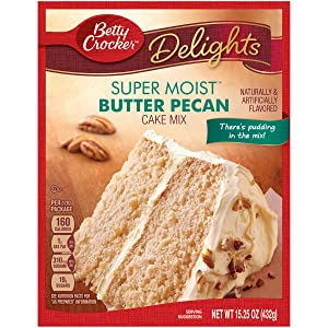 Betty Crocker Super Moist Cake Mix Butter Pecan 15.25 oz Box (pack of 6)