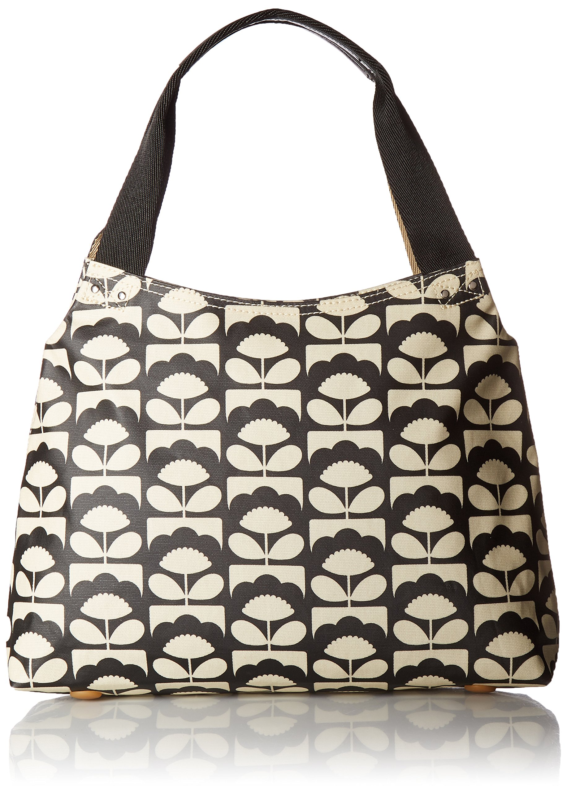 Orla Kiely Spring Bloom Classic Zip Shoulder Bag, Charcoal