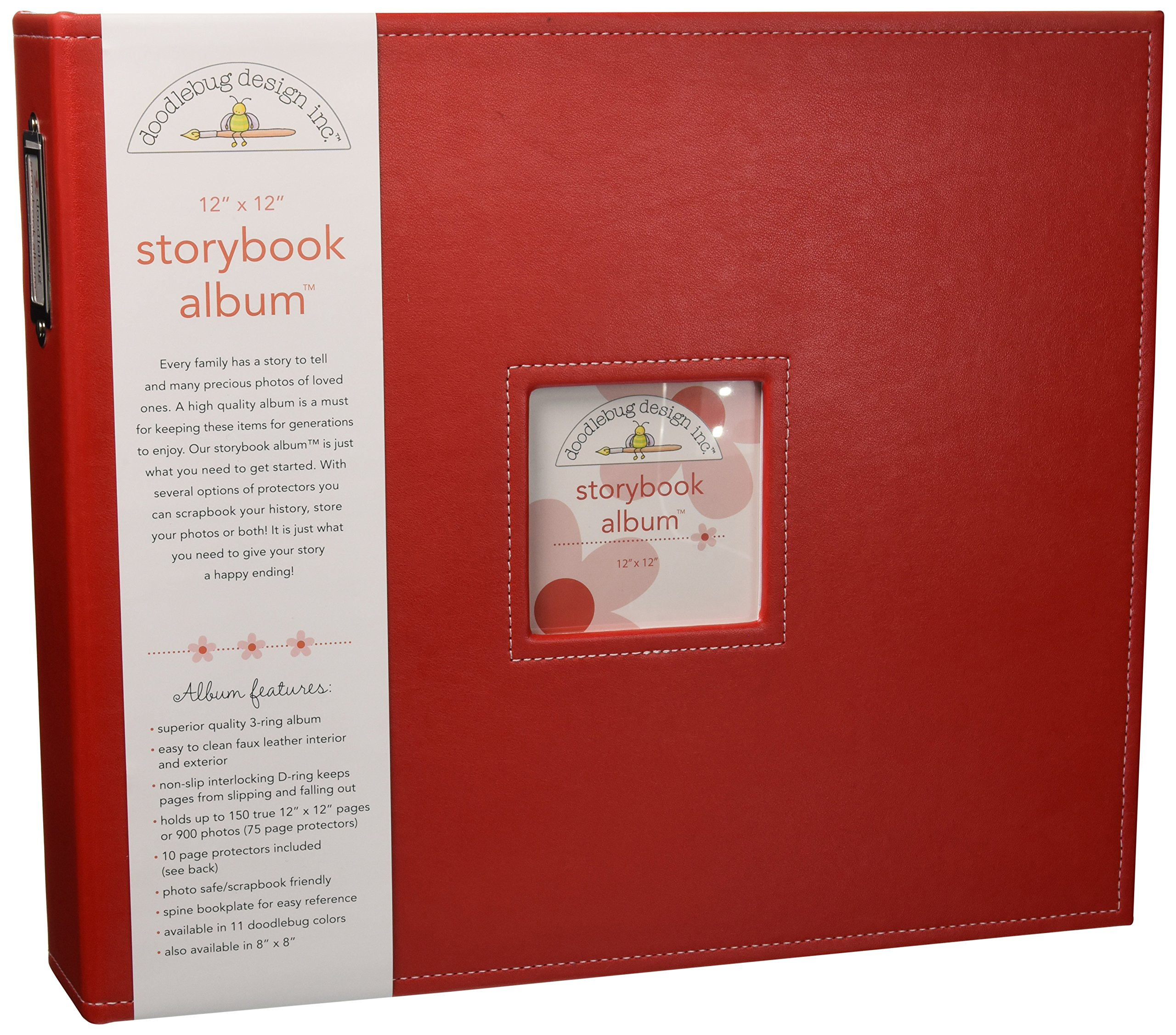 Doodlebug Design Ladybug Storybook for Scrapbooking Album, 12 by 12-Inch