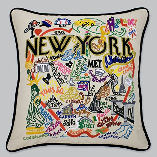 Catstudio new york city pillow geography collection home décor 083cs amazon co uk kitchen home