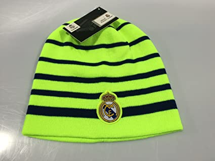 Real Madrid FC Neon Green/Blue Winter Beanie (OSFM)