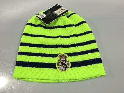 Real Madrid FC Neon Green/Blue Winter Beanie (OSFM)