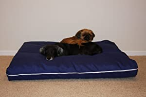 Blue Shredded Memory Foam Dog Pet Bed Mattress with Gel, Large Size L36xW45xH6 inches Made in USA
