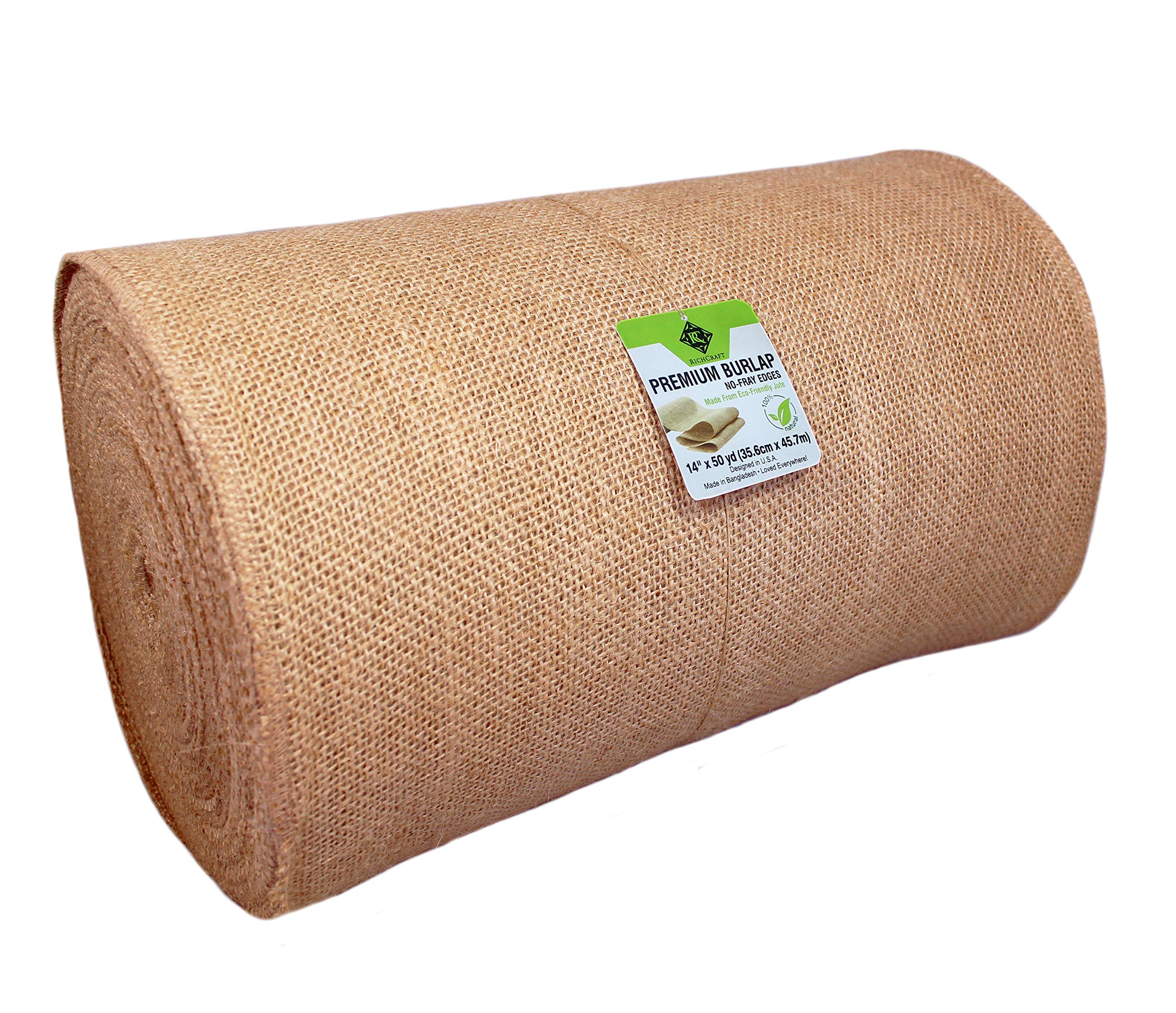 14'' x 50yd NO-FRAY NO-Mess Burlap Table Runner Roll ~ 14'' Wide x 50 Yards Long Table Runner Fabric w/Finished Edges. Perfect for Weddings, Placemat, Crafts. Decorate Without The Mess! by RC RICHCRAFT (Image #4)