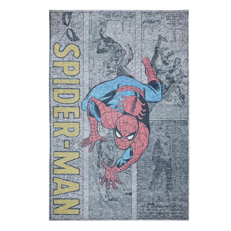 Marvel Spiderman Microfibra cabecero de Cama Cubierta, Gray/Black/Blue/Red, 152,4 x 228,6 cm: Amazon.es: Hogar