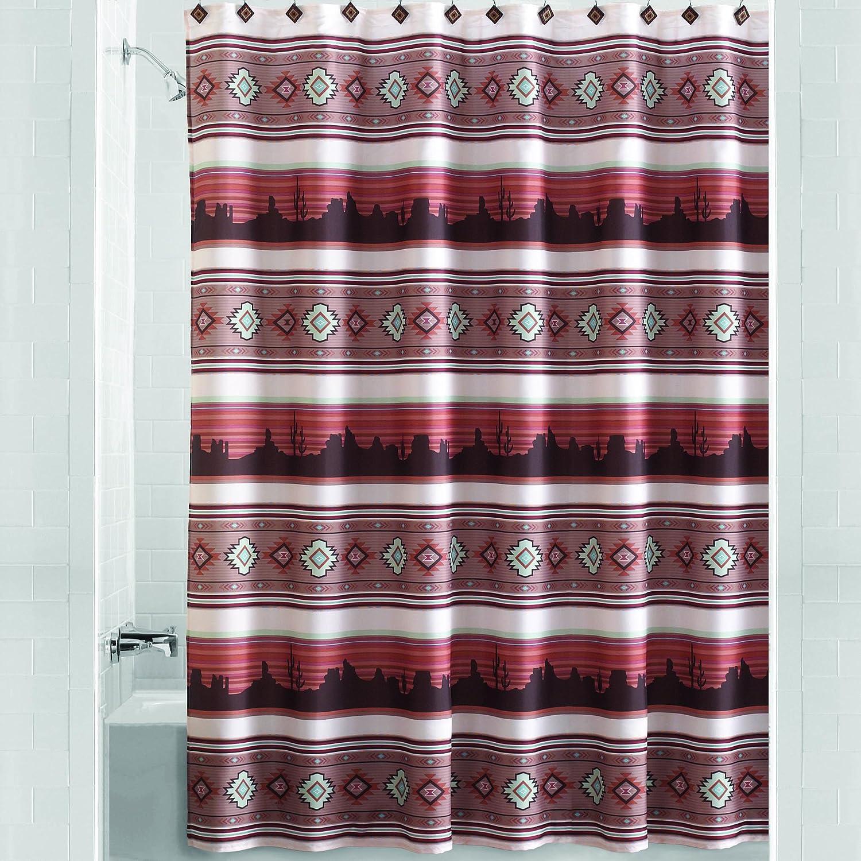 Aztec Sunset Southwestern Fabric Shower Curtain Shower Curtains Home Kitchen