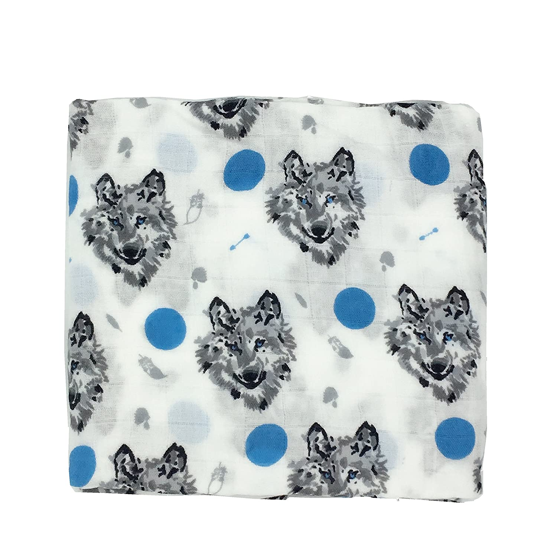 Ultra Soft Muslin Swaddle Blankets Premium Receiving Blanket for Boys & Girls 47 x 47 (Dino) Applot