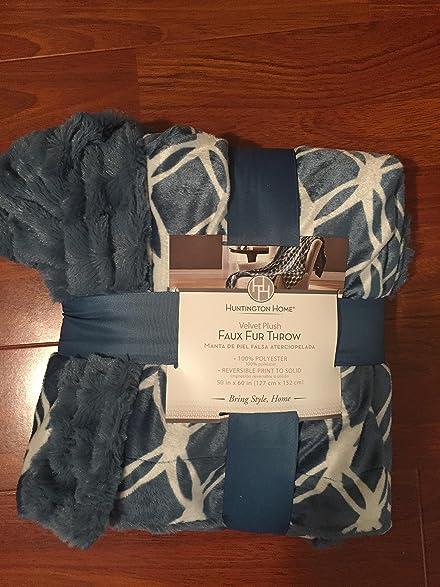 Huntington Home velvet plush faux fur Throw