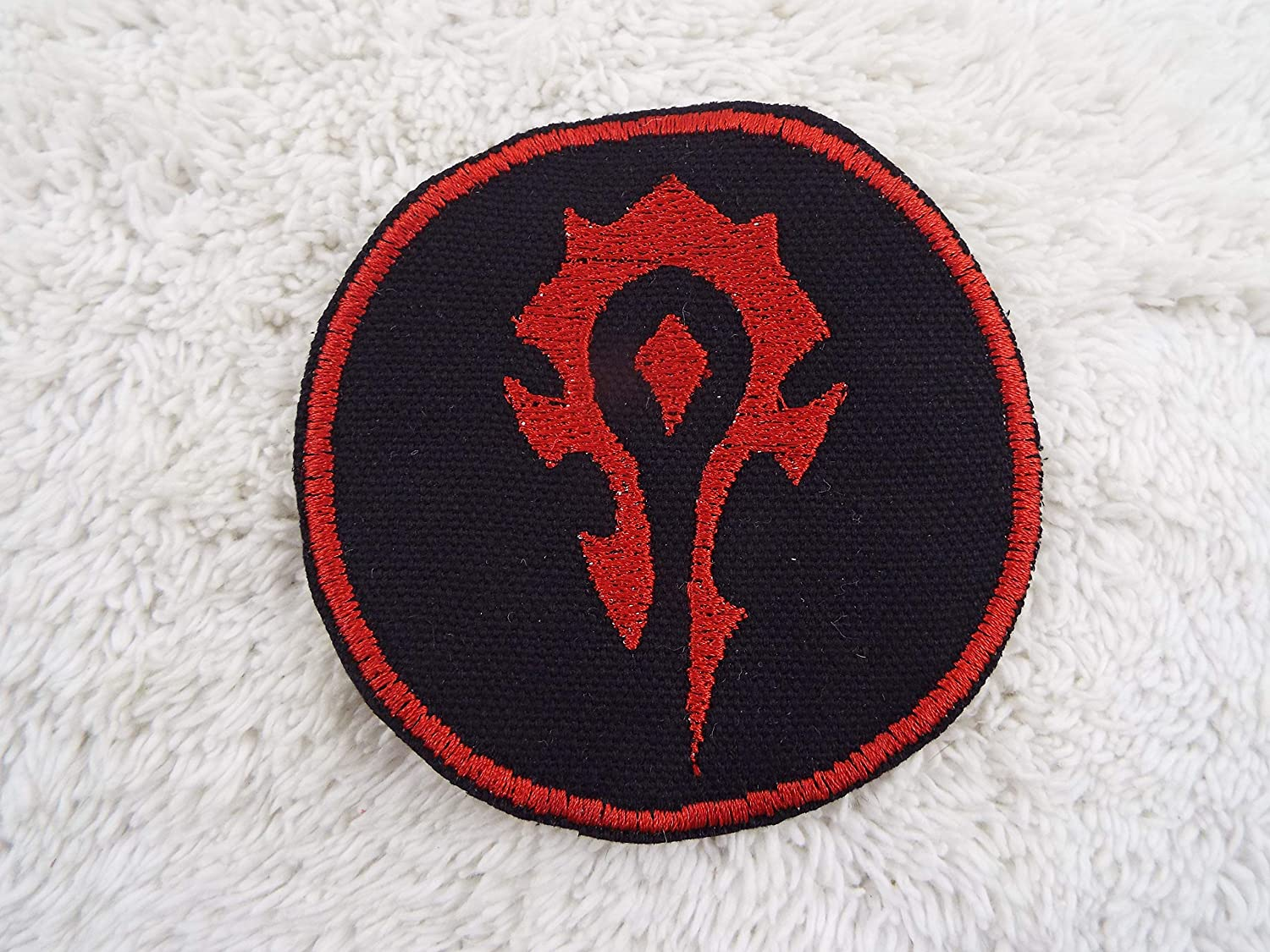 World of Warcraft HORDE Emblem Embroidered Iron-on Patch