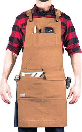 Waxed Canvas Apron HDG901W