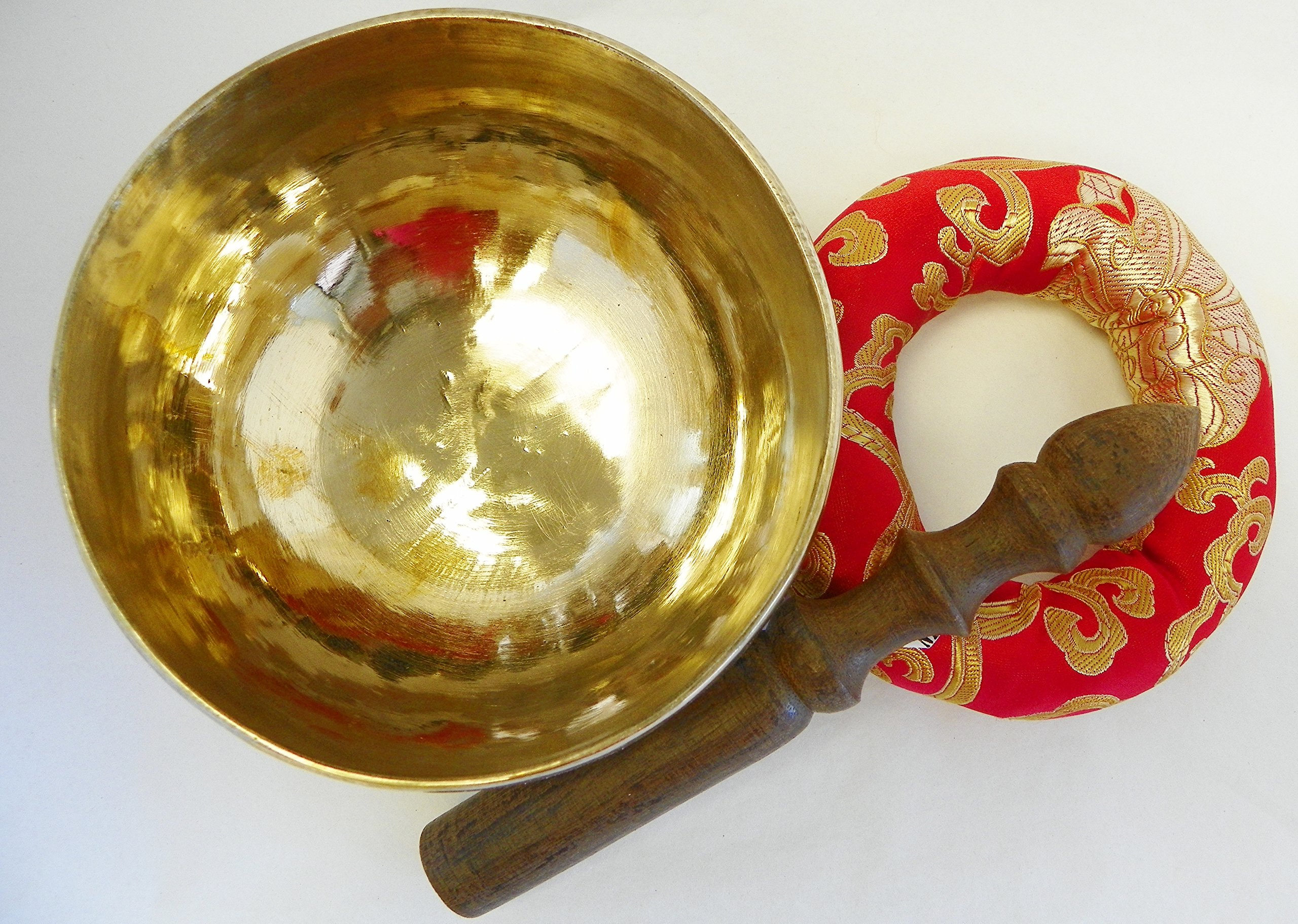 bowlsofnepal F547N 5.0 Palm Size Energetic Heart F Chakra Healing Tibetan Singing Bowl Made in Nepal