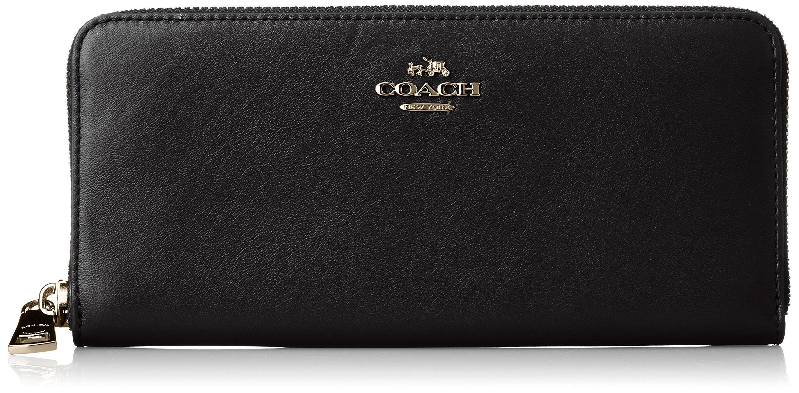 COACH Women's Smooth Slim Accordian Zip Li/Black One Size