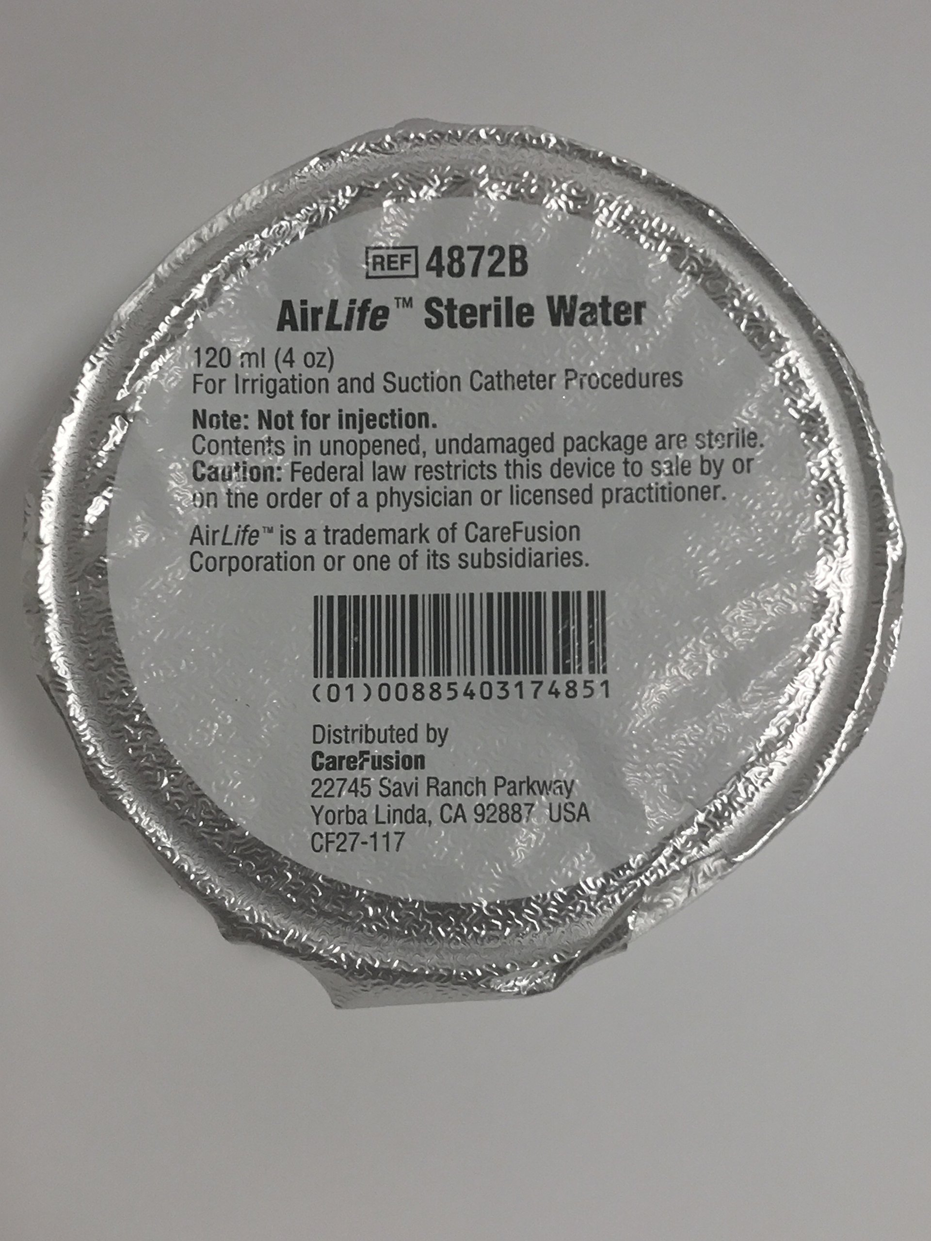 AirLife Sterile Water 120ml 4 Pack