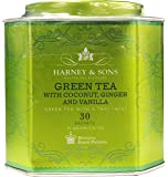 Harney and Sons Green Tea with Coconut Ginger Vanilla 30 Sachets Tin 2.67 Ounce