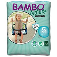 Bambo Nature Junior Size 5 (12-20kg) - Toilet Training Pull Up Pants - 20 pieces per pack