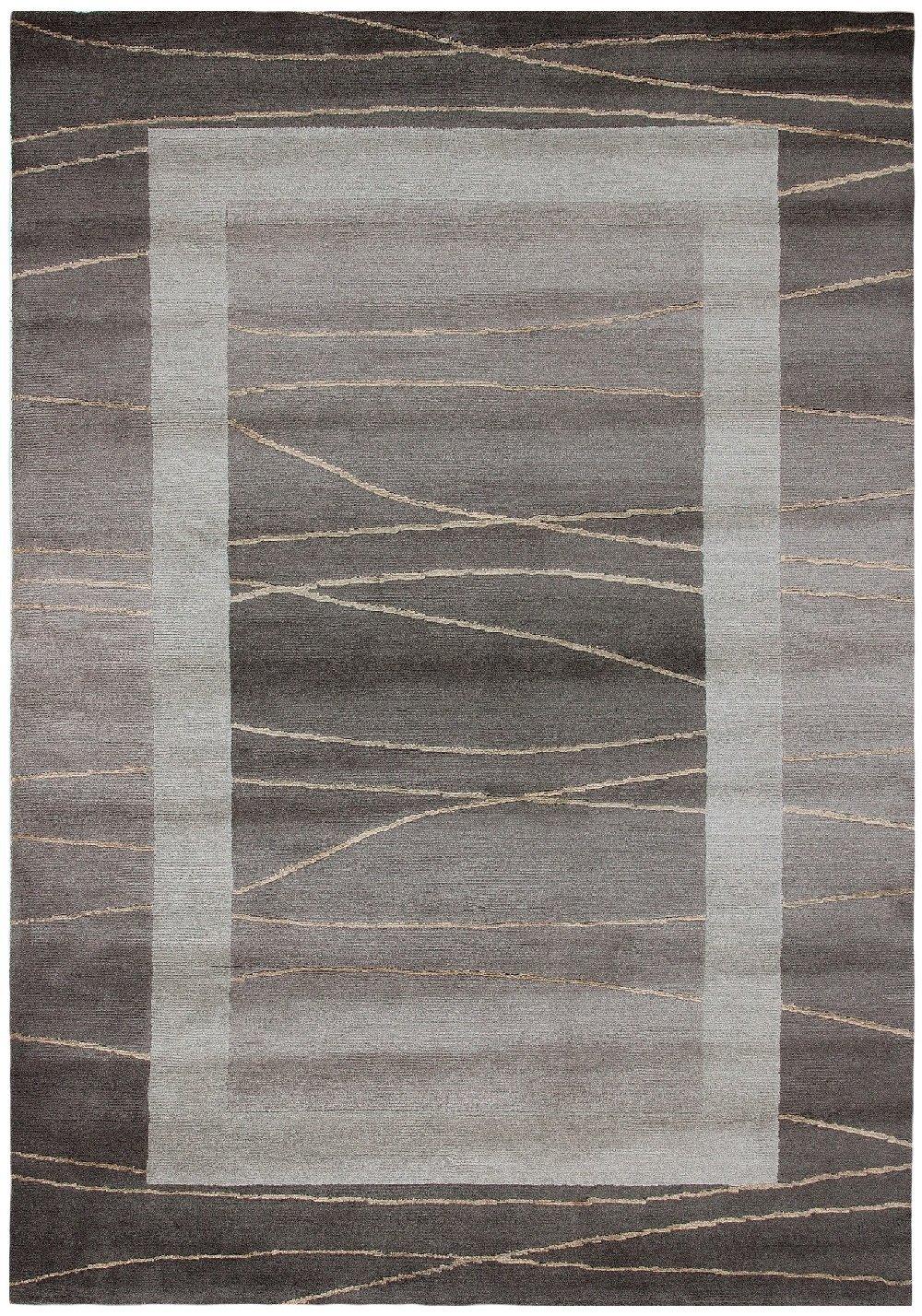 Sona-Lux Nepal Teppich handgeknüpft hellbraun