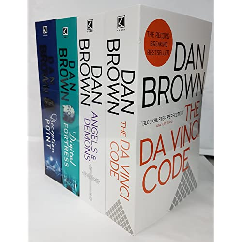 Dan Brown Collection - 4 Books: The Da Vinci Code, Angels and Demons, Deception Point, Digital Fortress.