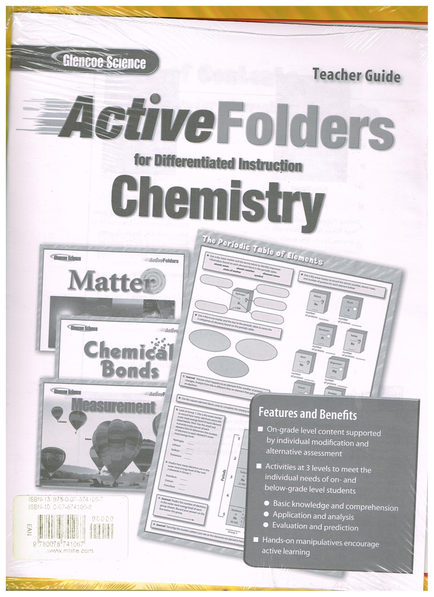 Chemistry Active Folders For Differentiated Instruction Teachers